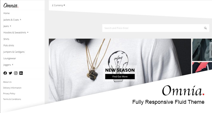 Omnia - Responsive Fluid OpenCart Theme