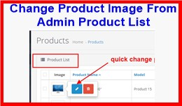 Change Product Image From Admin Product List