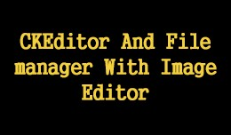 CKEditor And Filemanager With Image Editor