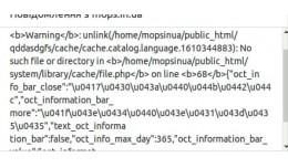 Fix cache file