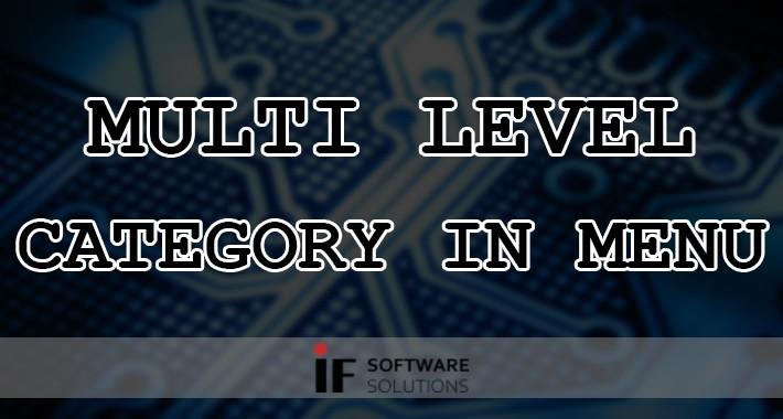 Multi Level Category in Menu