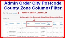 Admin Order City Postcode County Zone Column+Fil..