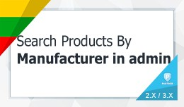 Search Products By Manufacturer under Admin