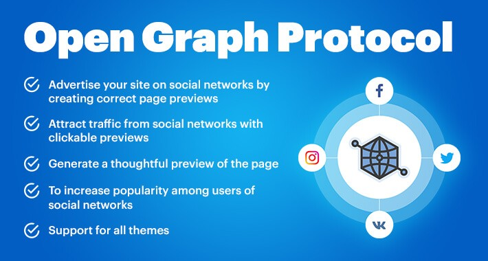 Open Graph protocol for Opencart Facebook Twitter Card Pinterest