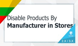 Enable / Disable Products By Manufacturer In Sto..