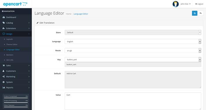 Fix Language Editor OpenCart 3