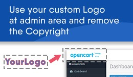 Change admin area logo and remove OpenCart copyr..