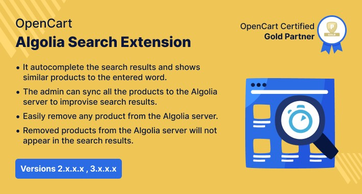 Opencart Algolia Search Extension