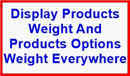 Display Product Weight Everywhere