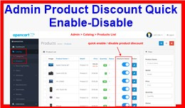 Admin Product Discount Quick Enable-Disable