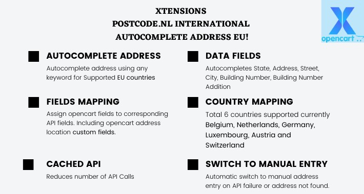 Xtensions - Postcode.nl International Autocomplete Address EU!
