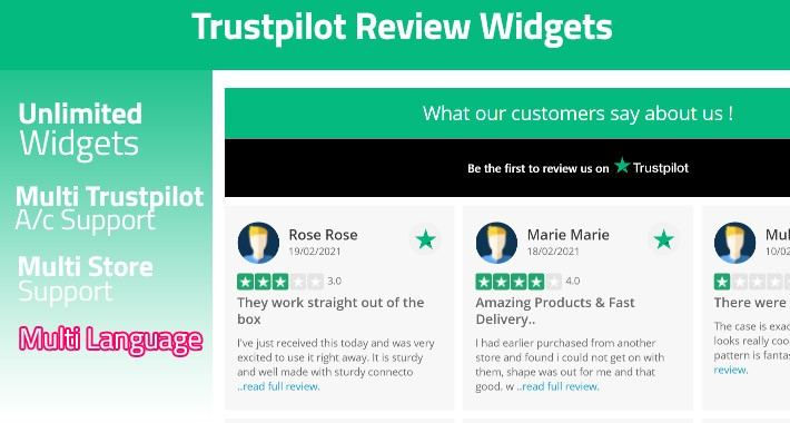 Opencart Trustpilot Review Widgets PRO