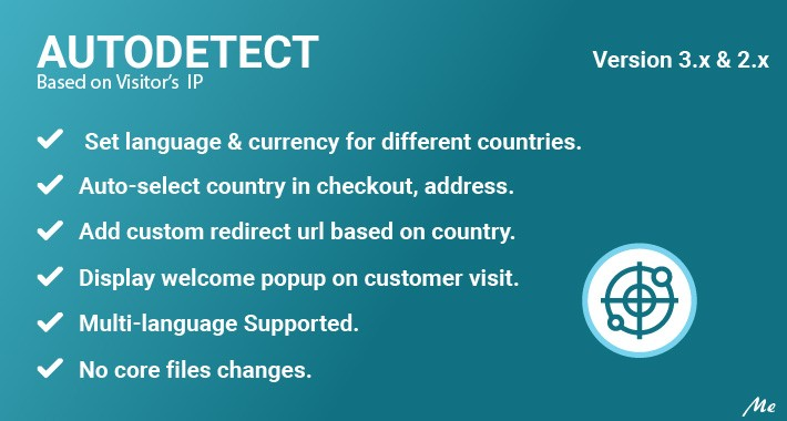 AutoDetect - Language & Currency by IP