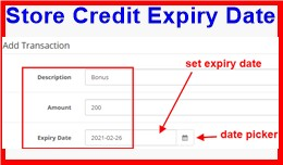 Store Credit Expiry Date