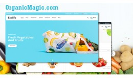 Organic 3 - vegetables and fruits shop responsiv..