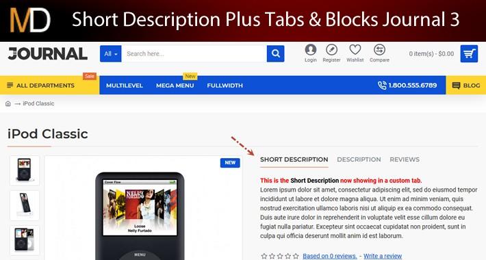 Short Description Plus Tabs & Blocks Journal 3