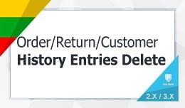 Order History Delete / User (History Transaction..