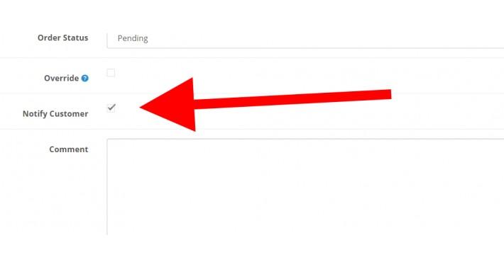 default notify - OCMOD