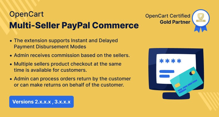 Opencart Multi Seller PayPal Commerce