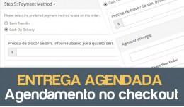 Entrega agendada no checkout para Opencart