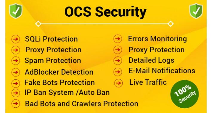 OCS Security - Security , Anti-Spam, IP Block Protection