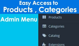 Admin Menu : Easy Access to Products & Categ..