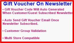 Gift Voucher On Newsletter
