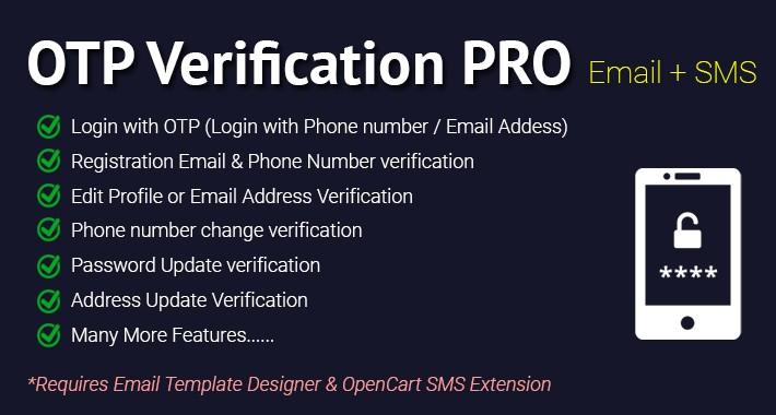 OTP Verification PRO (Email + SMS)