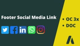 Footer Social Media Link
