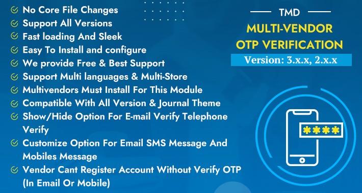 Multivendor OTP Verification ADDON