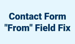 """Contact Form """"From"""" Field Fix for Open.."""