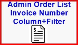 Admin Order List Invoice Number Column+Filter