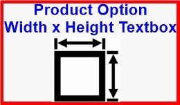 Product Option Width x Height Textbox
