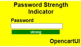 Password Strength Indicator for Opencart 30xx