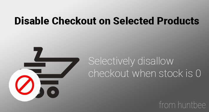 Disable checkout on Selected Products