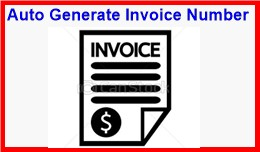 Auto Generate Invoice Number