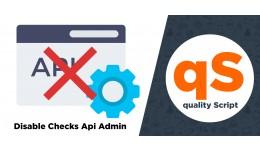 Disable APi Checks / Fix Error APi Permission