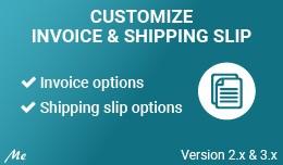 Customize Invoice & Shipping Slip