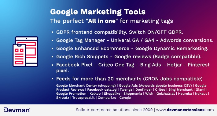 Google Marketing Tools - GDPR Compatible!