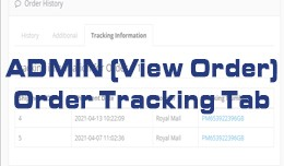 Tracking Tab - Order Info