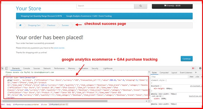 Google Analytics Ecommerce + GA4 + Event Tracking