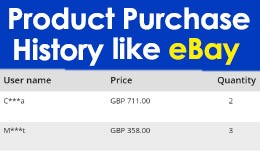 Product Purchase History Like eBay [Boost Sales]