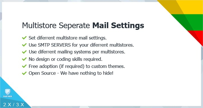 Multistore Separate Mail Settings (diferrent SMTP usage)