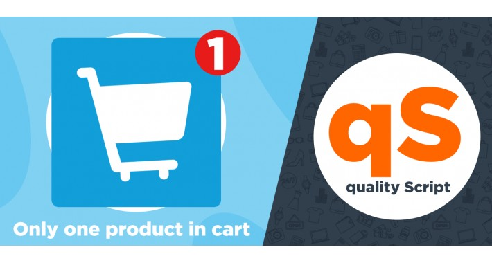 Only one product in cart