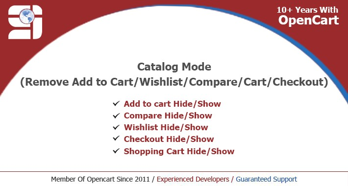 Catalog mode(Remove Add to Cart/Wishlist/Compare/Cart/Checkout)