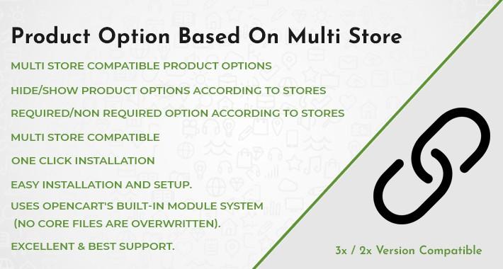 Product Option Based On Multi Store