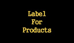 Label For Products