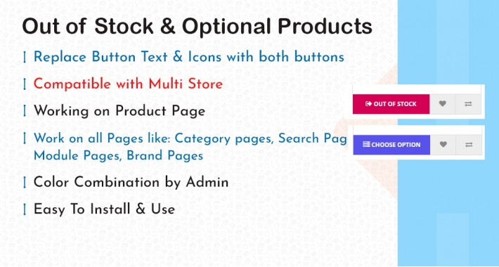 Out of Stock & Optional Button Products