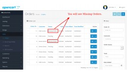 Display Missing Orders