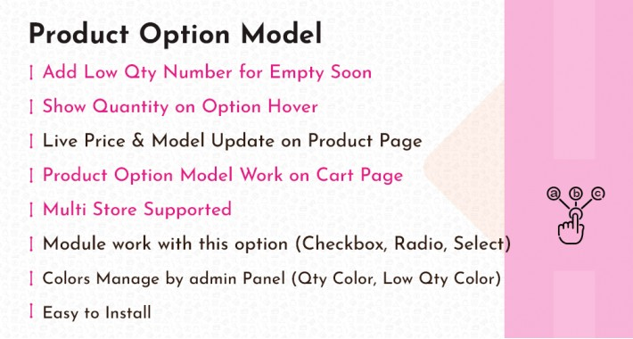 Product Option Model | Live Price Update | Option Quantity